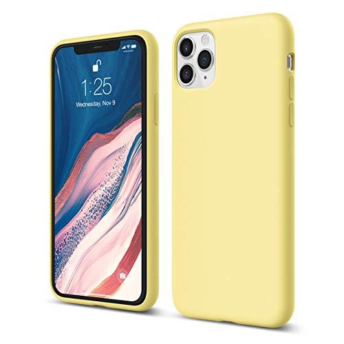 """elago Funda Silicona líquida de Goma Compatible con iPhone 11 Pro MAX 6.5""""- Premium Silicone, Protección de Cuerpo Completo : Estructura de 3 Niveles, Labio Elevado para Pantalla y cámara (Amarillo)"""