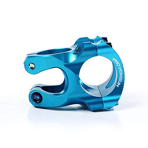 Mountain Bike Stem,31.8mm 35mm Bicycle Stem Aluminum Short Handlebar Stem Riser Ultra-Light MTB BMX DH FR for Most Bicycle, Road Bike, Mountain Bike, Cycling Handlebar Accessories (Blue)