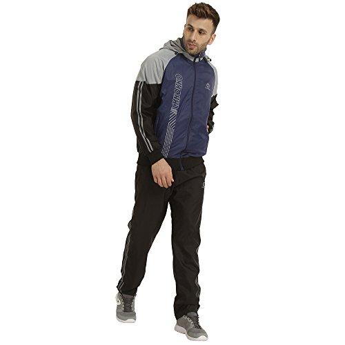 CHKOKKO Men Hooded Zipper Reversible Track suit