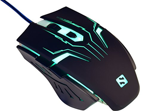 Sandberg Eliminator - Raton Gaming con Cable USB, Negro