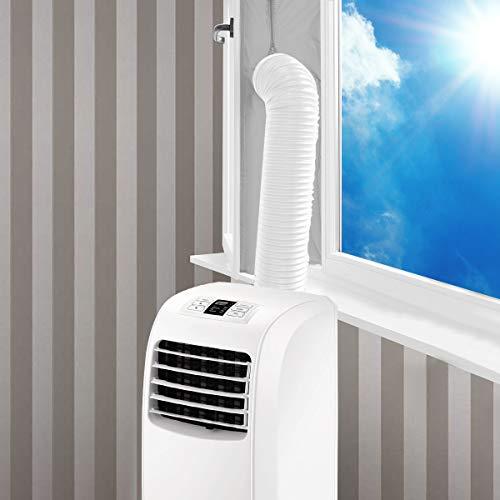 SanGlory 400CM Fensterabdichtung für Mobile Klimageräte, Klimaanlagen, Abluft-Wäschetrockner und Wäschetrockner, AirLock zum Anbringen an Fenster, Dachfenster Flügelfenster (400CM Silber-Grau)