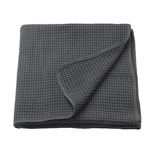ikeaa IKEA VARELD Tagesdecke in dunkelgrau; 100% Baumwolle; (150x250cm)