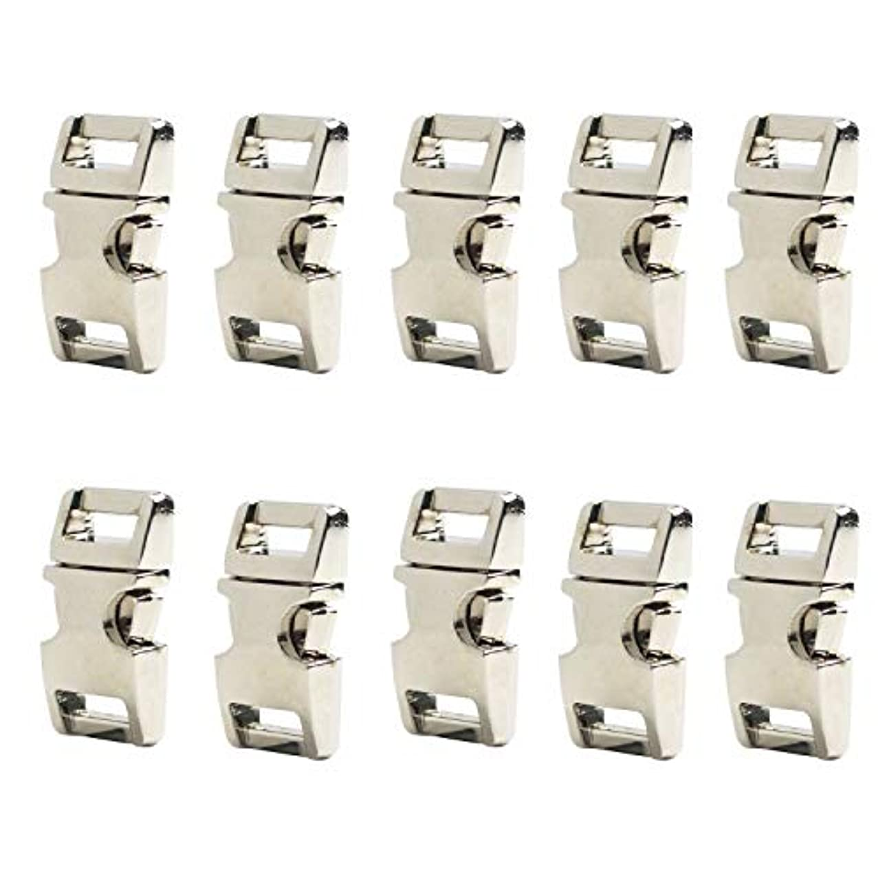 River Electronic 10 PCS 5/8 inch Flat Silver Color Metal Side Release Buckles