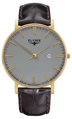 Elysee Herren Armbanduhr Zelos mit hochwertigem Leder- oder Meshband