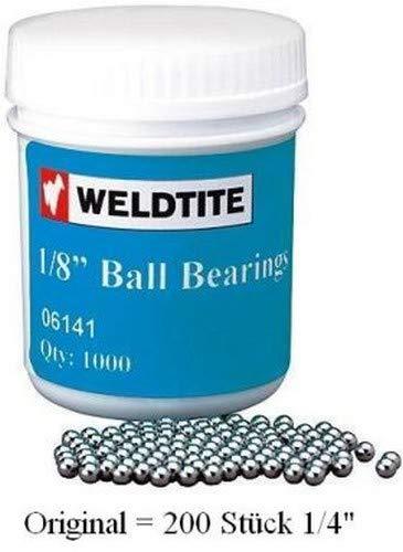 Unbekannt Kugeln Carbonstahl Gehärtet 5/32 Dose = 750 Stück, Silber, Zoll