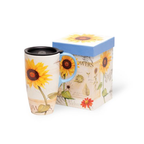 Sunflowers Latte Travel Mug 17oz