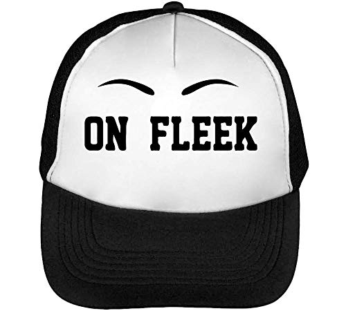 My Eyebrows Are On Fleek Trucker Cap Heren Dames Zwart Wit Snapback