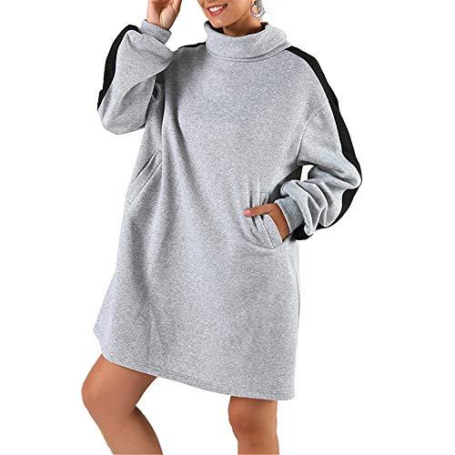 ZHJA 2019 Herbst Und Winter Neue Europäische Und Amerikanische Frauen Pullover Tops Stehkragen Lange Mode Wilden Pullover