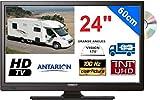 TÉLÉVISEUR pour Camping Car LED 24' 60cm 12V HD Lecteur DVD TNTUHD ANTARION - ATV24DVD