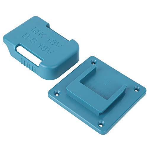 Ausla Estante de Almacenamiento de batería Resistente, Estuche de Soporte de batería, Viaje como Regalo Actividades al Aire Libre para baterías de 18 V(Blue)