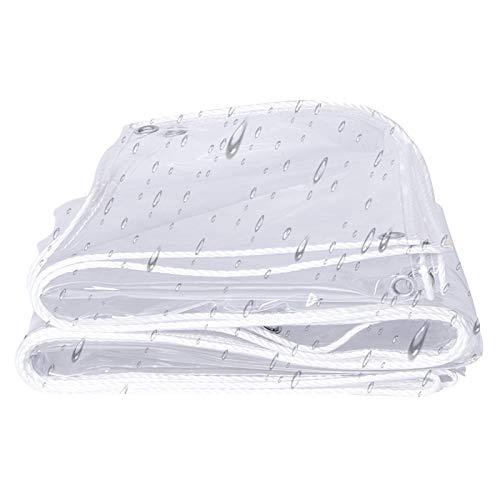 LIANGLIANG Tarpaulin Waterproof Heavy Duty, PVC Curtain Tear Resistance, Transparent Rainproof Windshield Linoleum, Plant Protection Various Sizes Customizable (Color : Clear, Size : 1x1m)