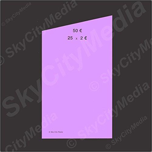 Münzrollpapier für Euro Münzen je 50x (2,00 € Papier) für Geldrollen/Rollgeld Münzrollenpapier/Handrollpapier/NEU