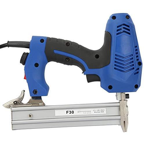 Pistola de clavos eléctrica, clavadora de acabado recto, ajustable para decoración de...