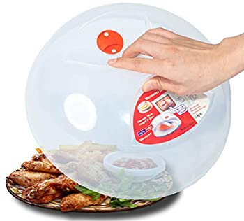 Large Microwave Plate Cover Easy Grip Microwave Splatter Cover Guard Lid with Steam Vent and BPA Free & 11.5 Inch Dishwasher Safe
