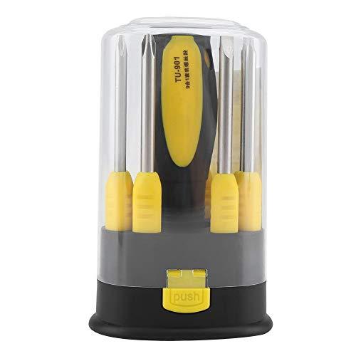 Puntas de destornillador - Juego de destornilladores magnéticos multifunción 9 en 1 Juego de herramientas de reparación profesionales
