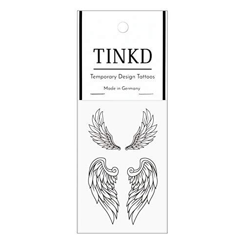 TINKD Klebetattoo Engel - Fake-Tattoo Angel Wings Tattoo Set - Made in Germany