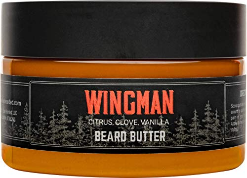 Live Bearded: Beard Butter - Wingman - Leave in Conditioner for Beards - 3 oz. - Moisturize, Style, Condition - All-Natural Ingredients with Shea Butter - Light to Medium Hold - Made in the USA