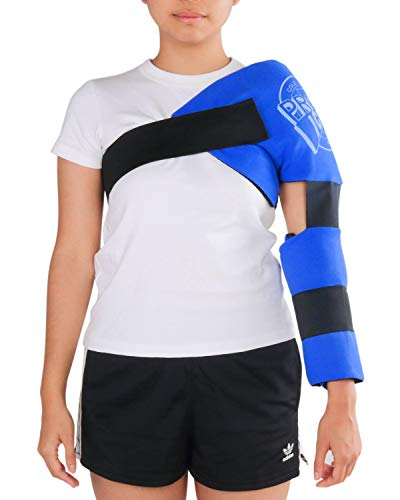 REMOVABLE ICE PACKS - The Pro Ice PI 220 youth shoulder and elbow ice wrap comes with one set of removable ice packs that can easily be placed in the freezer, one pack for the shoulder and one pack for the elbow. PICK CORRECT SIZE – Designed to fit y...