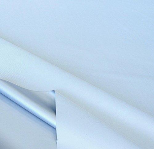 TOLKO Sonnenschutz Verdunkelungsstoff Meterware   100% Lichtdicht, Thermo-Beschichtung   als Fensterfolie, Verdunkelungsvorhang/Gardine, Verdunklungsrollo (Eisblau)