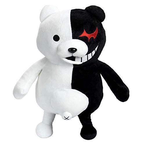 Qiujiam Dangan Ronpa Teddy Spielzeug Super Danganronpa 2 Monokuma Black & White Bear Teddy Plüsch Puppe Spielzeug Stofftier Puppe Für Erwachsene Kinder (43 cm; 25 cm)