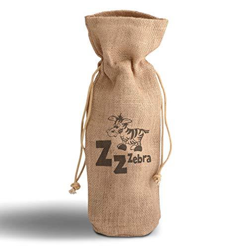 Cotton Custom Wine Gift Bag Alphabet Z, Zebra & Monograms Animals Housewarming & Party Accessories Jute Burlap Drawstring Design Only