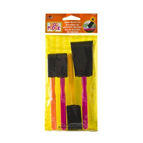 Mod Podge Schrabooking Schuimkwastenset, synthetisch materiaal, meerkleurig, 20,8 x 6,6 x 0,8 cm