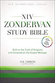 NIV Zondervan Study Bible, Hardcover: Built on the Truth of Scripture and Centered on the Gospel Message