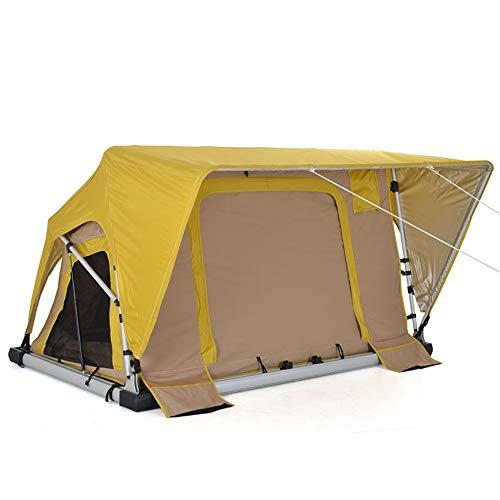 WJFJYPD Hydraulische Rod Soft Shell-Handbuch Dachzelt Außen Camper Zelt Doppelselbstfahr Zelt (Color : Gelb)