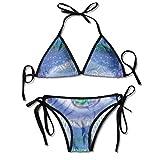 Bikini Trajes de baño Signo místico Tercer Ojo Motivos de Mandala Sabiduría Yoga Zen Chakra Iluminación Conjuntos de Bikini Traje de baño Traje de baño