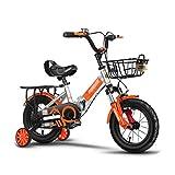 FINLR-Bicicletas infantiles Kids Bike Boy 's Girl For Niños Bicicleta For Niños En Tamaño 12'14' 16'18' Bicicleta De Absorción De Choque Plegable con Estabilizadores Y Cesta