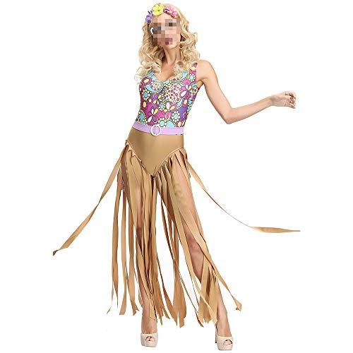 YyiHan Disfraz De Halloween, Disfraz De para Niña Halloween Disfraz Vestido Halloween Cosplay,Disco Hippie Hippie Disfraz Ball Show Disfraz De Halloween Mujer
