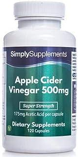 Vinagre de Manzana 500 mg - 120 cápsulas - Favorece la pérdida de peso - SimplySupplements