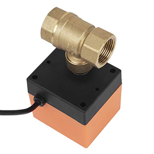 Elektrisches Ventil Absperr Umschalt Kugelventil Messing Absperrhahn 2 Wege,DN20 G3/4 Zoll, AC 230V, für Flusssteuerung Zonenventil Kugelventil