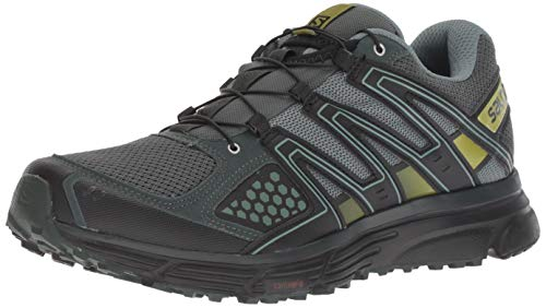 Salomon X-Mission 3, Zapatillas de Trail Running para Hombre, Verde (Urban Chic/Black/Guacamole), 44 2/3 EU