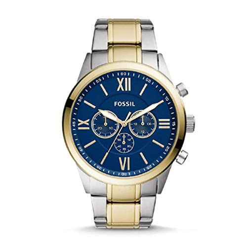 Fossil Flynn Chronograph Stainless Steel Watch - BQ2407 Two-Tone One Size