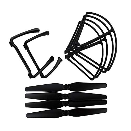 HONGYI Propeller for SJ/RC SJRC S70 S70W HS100 HS100G RC Drone Quadcopter Spare Parts Propeller Blade Landing Gear Propeller Protection Frame Drone Accessories (Color : Black)