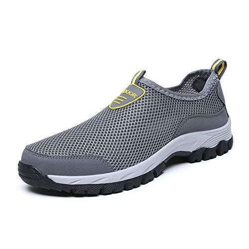Herren Outdoor Fitnessschuhe Atmungsaktive Mesh Schuhe Sport Größe 39-48 Size Slipper Sportschuhe Sneaker Turnschuhe Laufschuhe Pumps Aquaschuhe Badeschuhe Strandschuhe