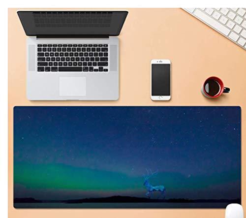 Übergroßes Gaming-Mauspad, Laufendes Reh Unter Den Sternen, Strapazierfähiges, Verschleißfestes Gummi, Tragbares Laptop-Gaming-Mauspad Für Laptops