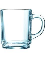 luminarc a Set of Tea Cups, 6 Piece, Clear, N1225