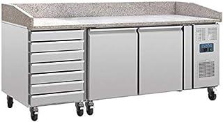 Table Pizza Réfrigérée 2 portes 7 tiroirs dessus marbre série 800 - Polar