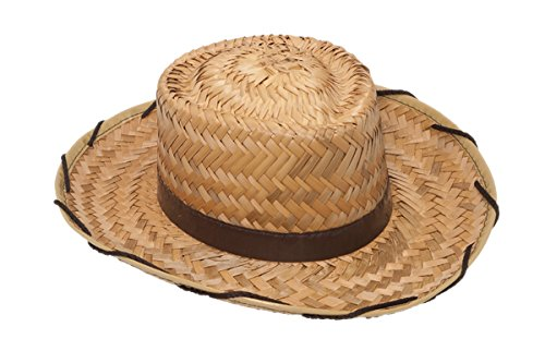 Jacobson Hat Company Child's Cocoa Straw Cowboy Beige Standard