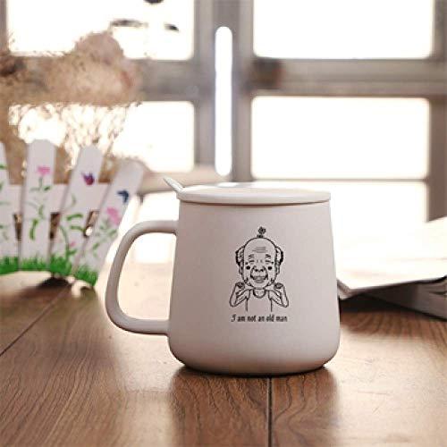 N\C Taza de café de cerámica con tapa y diseño de gato Lady My Neighbor Totoro Lovers