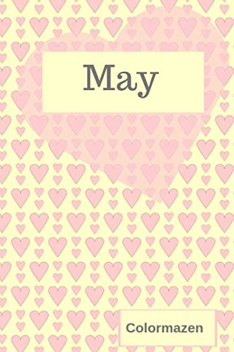 May: Personalised Valentine Heart Notebook In Pink (Small) (Valentine Heart Personalised Notebooks)