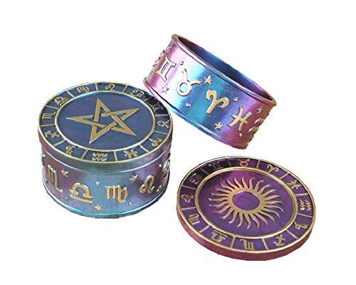 3 Pieces-DIY epoxy Resin Glue Mold, Twelve Constellation Starry Sky Five-Pointed Star Storage Box, Constellation Box Resin Mold