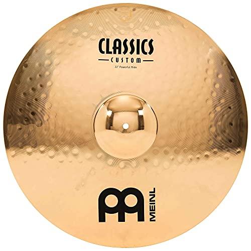 Meinl Classics Custom Brilliant 22 Zoll (55,88cm) Powerful Ride Becken für Schlagzeug – B10 Bronze, brilliantes Finish (CC22PR-B)