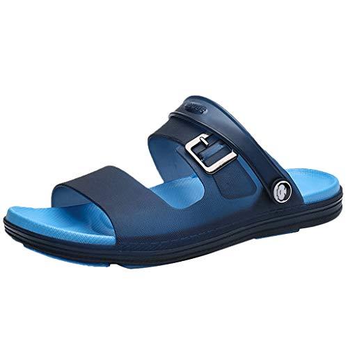 KERULA Hausschuhe Herren Sommer Unisex-Erwachsene Bequeme Breathable rutschfeste Langlebig Strand Hüttenschuhe Badeschuhe Schuhe mit Rutschfester Gummisohle für Drinnen und Outdoor