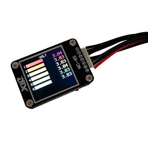 OUYBO Capacidad Tester Digital de la batería Lipo pantalla del inspector del probador del voltaje MC-6S 1-6S color de la pantalla eléctrica medidor de prueba de señal del receptor Accesorios de baterí
