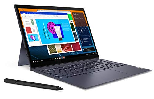 Lenovo Yoga Duet 7 - Portátil 2 en 1 de 13' WQHD (Intel Core i5-10210U, 8GB RAM, 512GB SSD, Intel UHD Graphics, Windows 10 Home), Lenovo Digital Pen, Gris - Teclado QWERTY Portugués