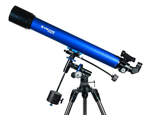 Meade Instruments Polaris 216003 - Telescopio, Reflector Azul, 90mm