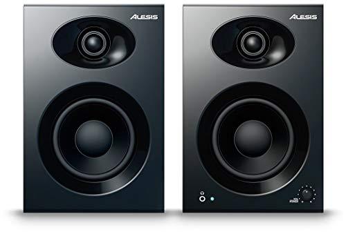 Alesis Elevate 4 |Pair of 50 W Powered Desktop Studio or Gaming Speakers (Black)